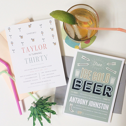 Birthday and Beer Invitation