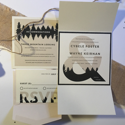 forest mountain wedding invitation
