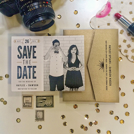 Black and Gold Save the Date
