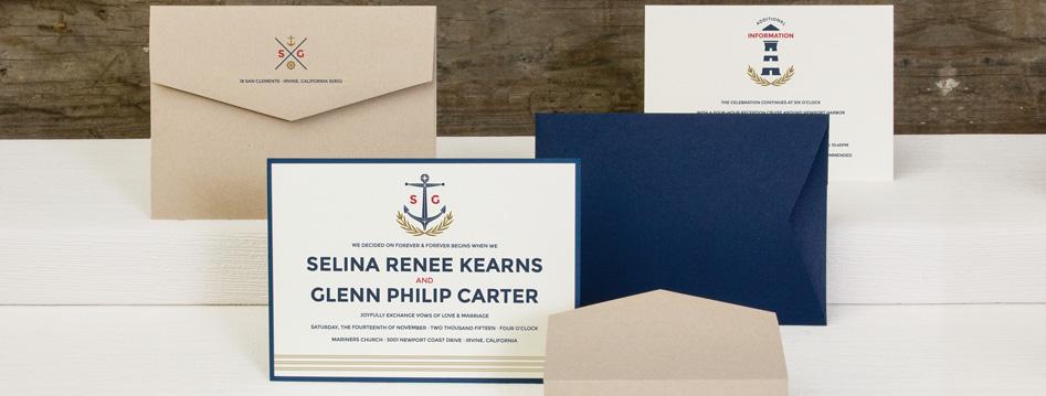 NJ Wedding Invitations - Sailing Wedding Theme Invitation